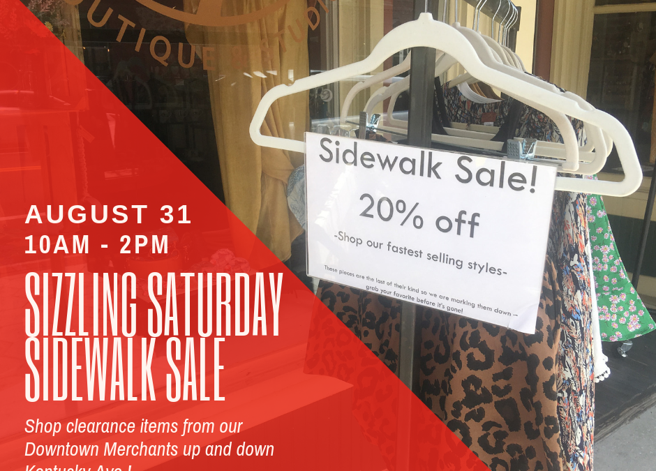 Sizzling Saturday Sidewalk Sale