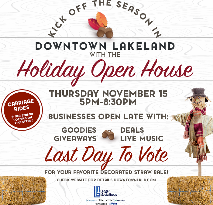 Holiday Open House on November 15