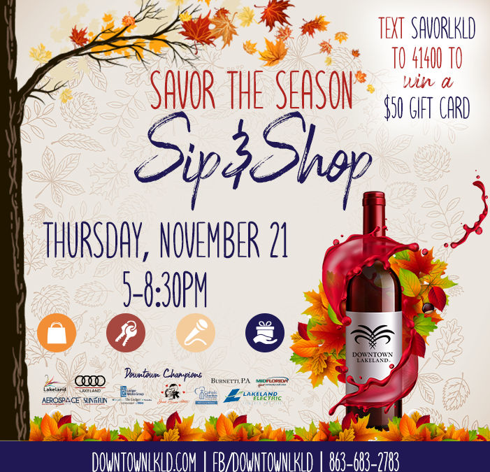 Savor the Season: Sip & Shop