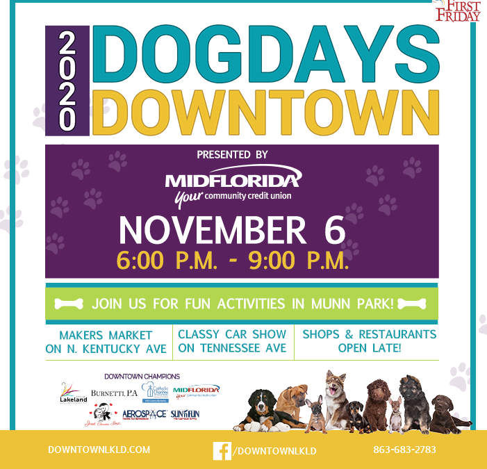 November 6 First Friday: Dog Days Downtown