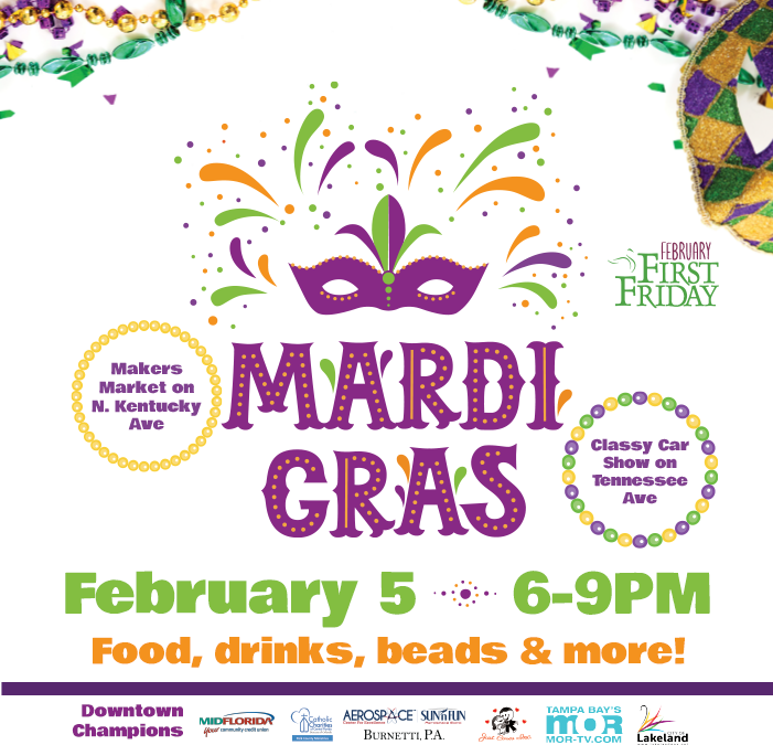 February 5 First Friday: Mardi Gras