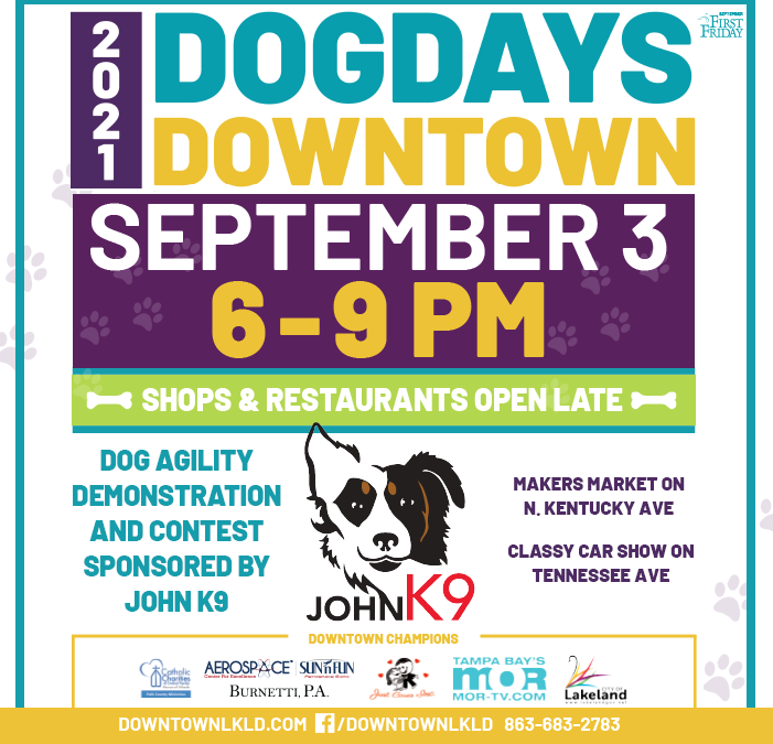 September 3 First Friday: Dog Days Downtown